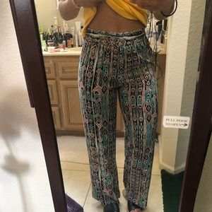 Colorful Wide-Legged Pants